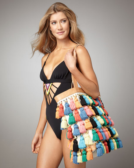 Mara Hoffman Tassel Beach Bag