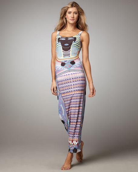 King Tut Printed Maxi Dress