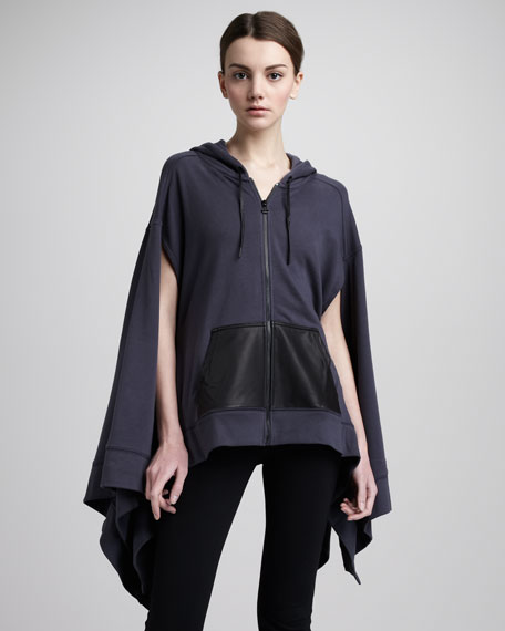 Hooded Zip-Front Cape, Dusk
