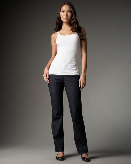 Organic Cotton Straight-Leg Jeans, Petite
