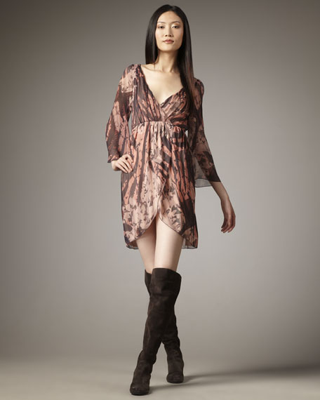 Conry Bell-Sleeve Dress