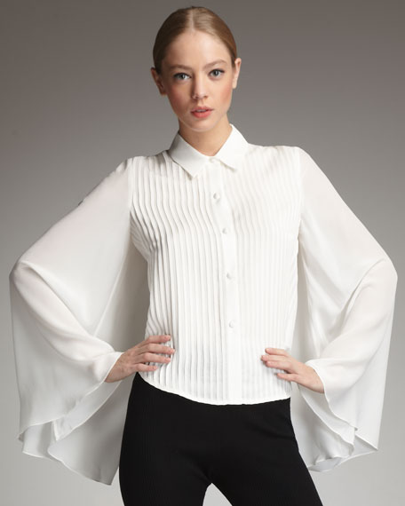 Cape-Sleeve Shirt