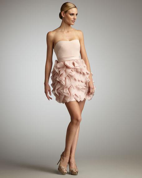 Ruffle-Bottom Cocktail Dress