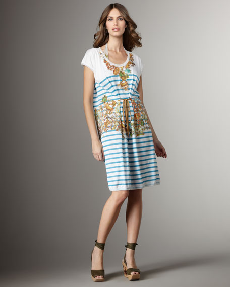 Striped Jersey Coverup