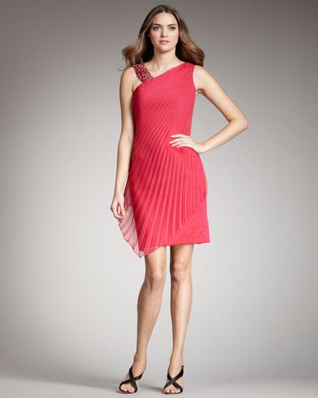 Bias-Pleated Dress
