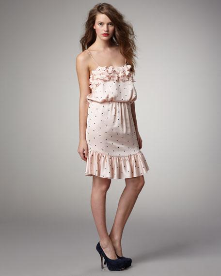 Dotted Blouson Dress