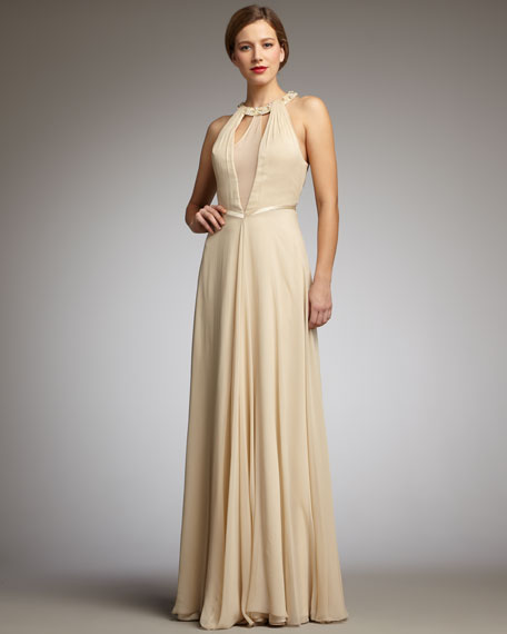 Layered Halter Gown