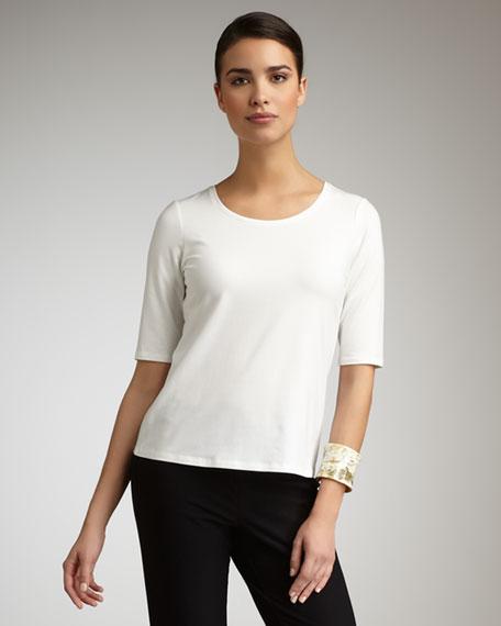 Half-Sleeve Jersey Top