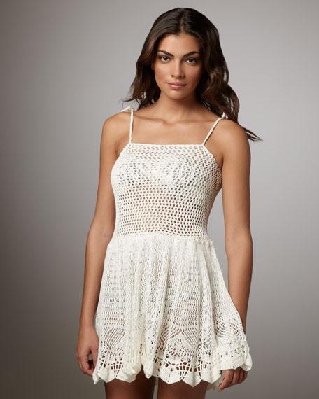 Marcia Crochet Tie-Strap Dress