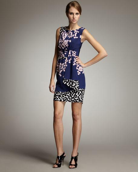Tamara Mixed-Print Dress