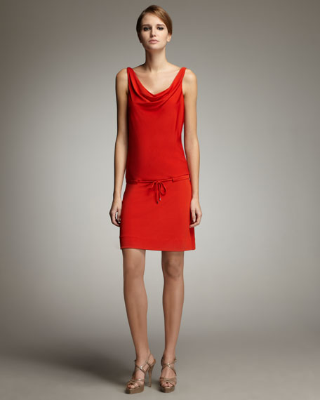 New Tadd Cowl-Neck Dress