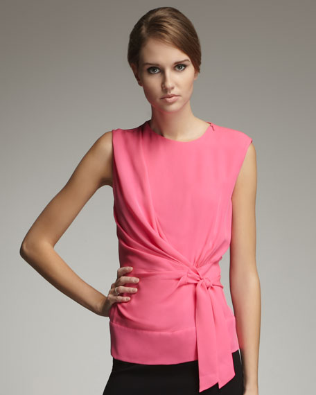Grandie Silk Blouse, New Pink