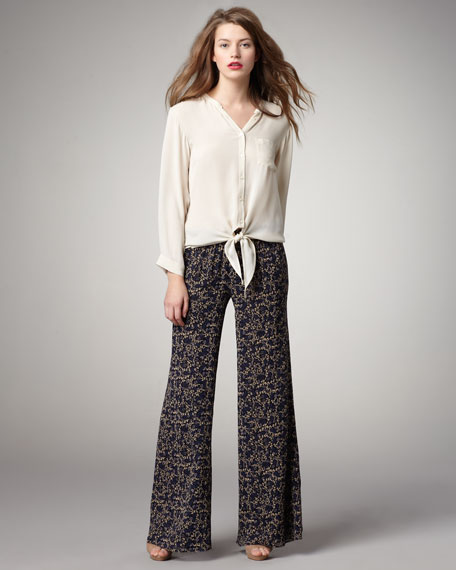Adrienne Printed Silk Pants