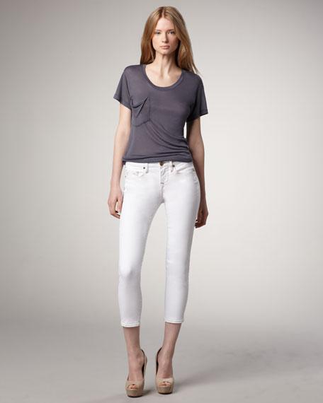 Brooklyn Optic White Cropped Legging Jeans