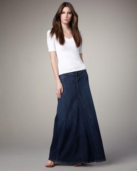 Steward Denim Maxi Skirt