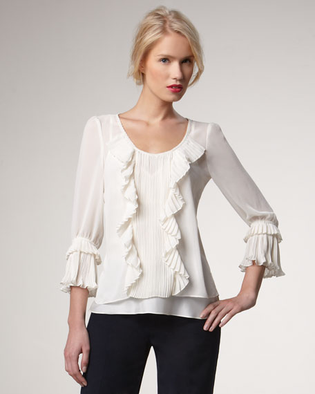 Dazzle Me Pleated Blouse