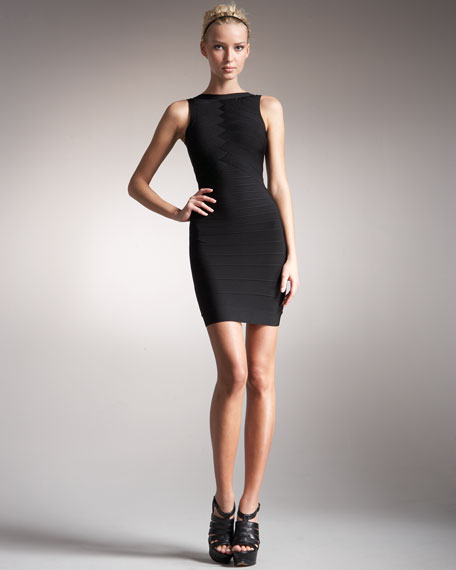 Back-Cutout Reversible Bandage Dress