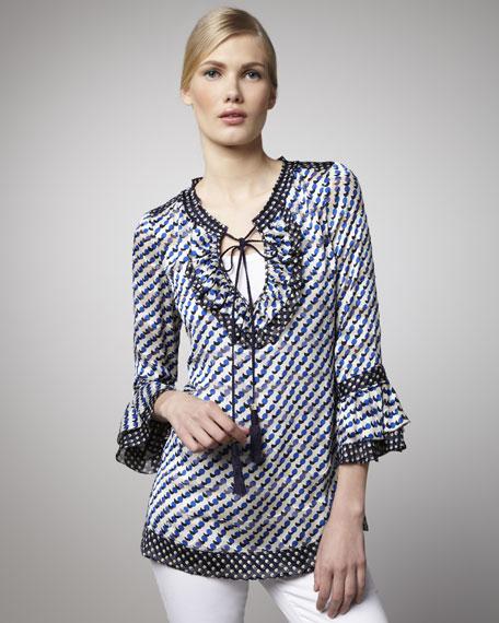Gwenna Ruffle-Sleeve Tunic