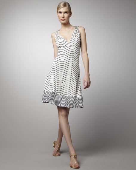 Sullivan Striped Silk Dress