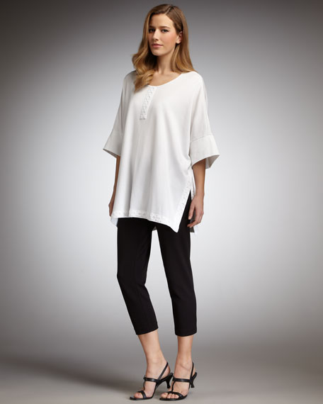 Boxy Trimmed Top, Petite