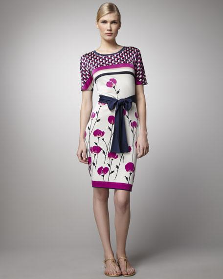 Melba Poppy-Print Dress