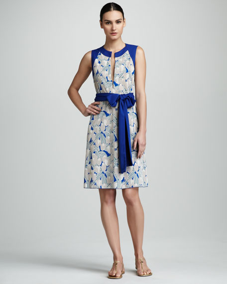 Atley Printed Tie-Waist Dress