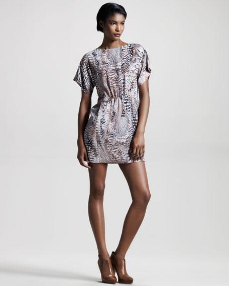 Dalmeny Feather-Print Dress