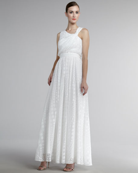 Asymmetric Textured Gown