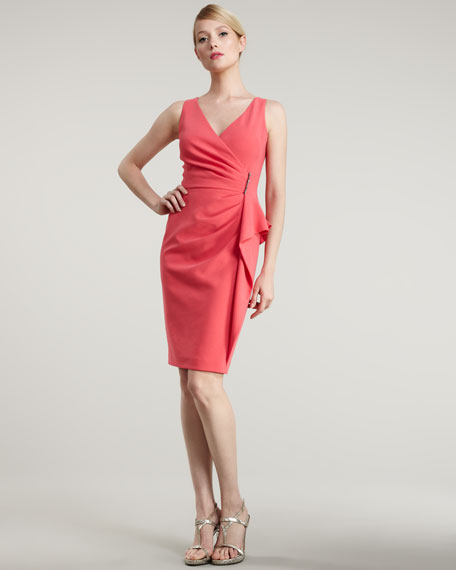 Ruched-Waist Cocktail Dress