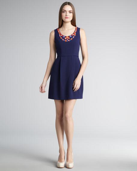 Beaded Naomi Sleeveless Dress