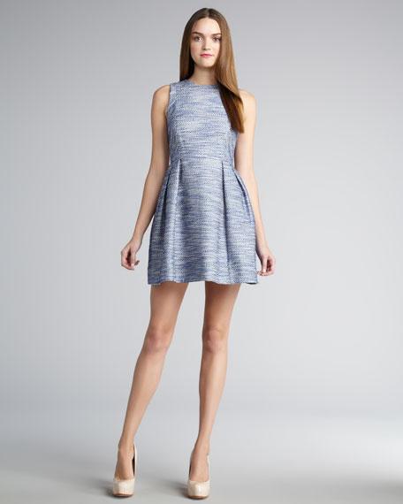 Belle Sleeveless Tweed Dress