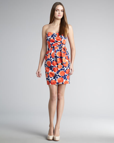 Sylvie Floral Strapless Dress