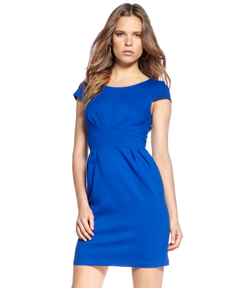 Short-Sleeve Ponte Dress