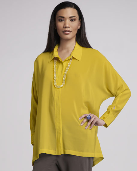 Boxy Silk Blouse