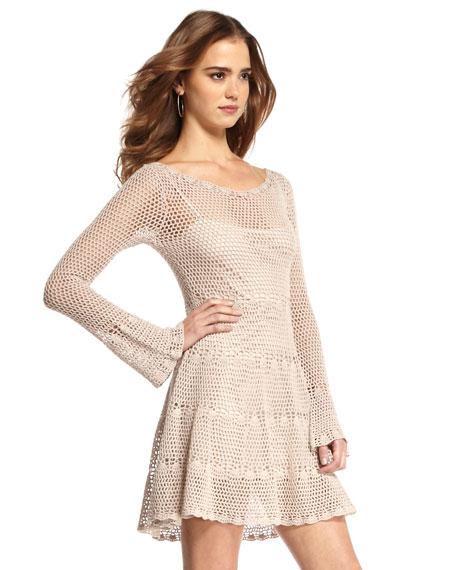 Belle Open-Weave Dress