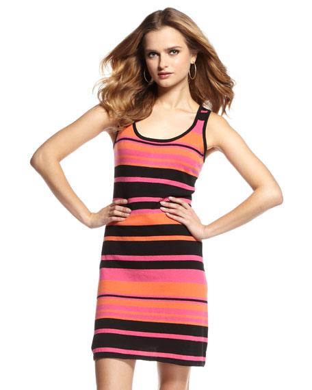 Striped Knit Tank Dress