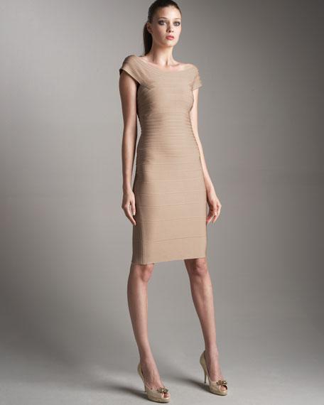 Off-Shoulder Essential Dress, Bare