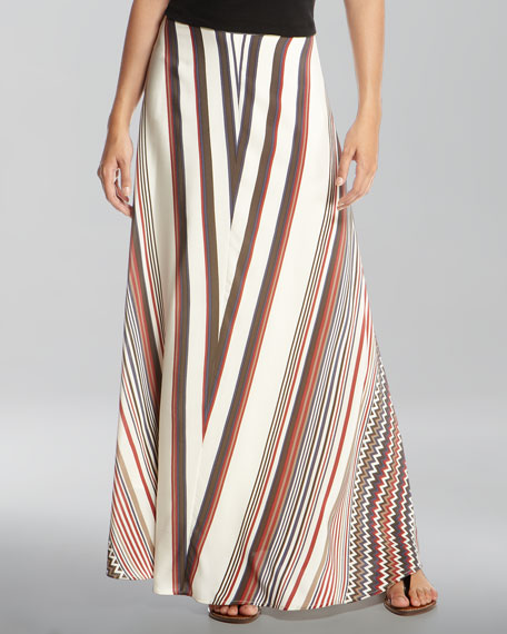 Ziggy-Print Maxi Skirt