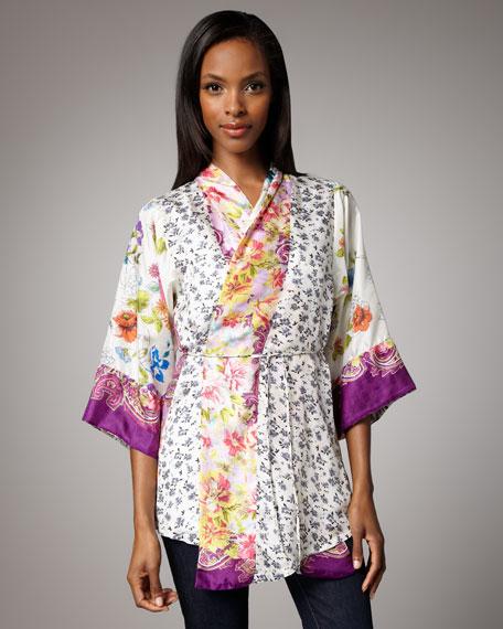 Printed Silk Wrap Tunic