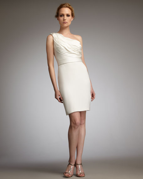 One-Shoulder Embellished Cocktail Dress