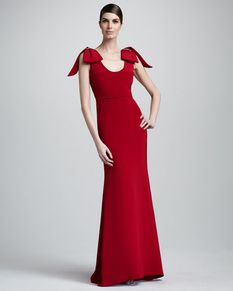 Bow-Shoulder Gown