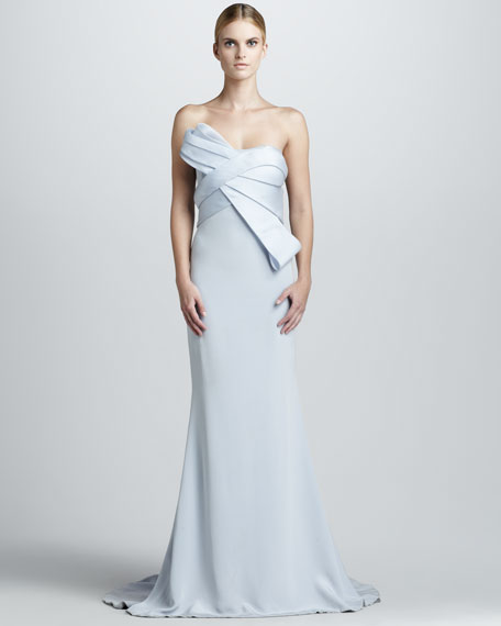 Strapless Gown with Structured Bodice