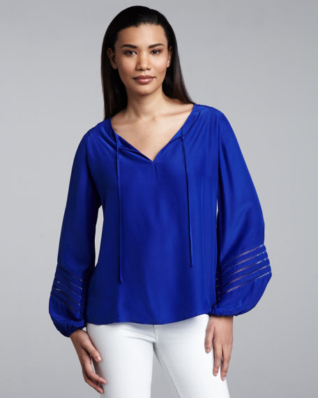 Cutout-Sleeve Blouse, Women's