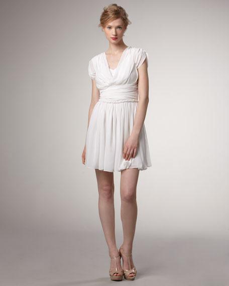 High-Waist Pleated Dress