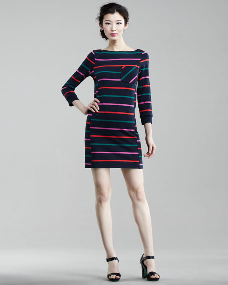 Mallory Striped Jersey Dress