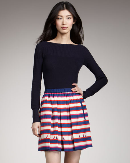 Flavin Striped Skirt