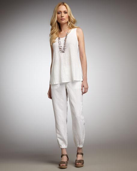 Linen Cargo Pants, Women's