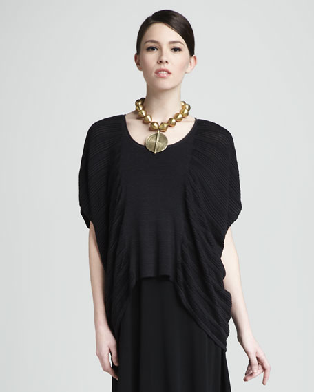 Pleated Boxy Top, Women's