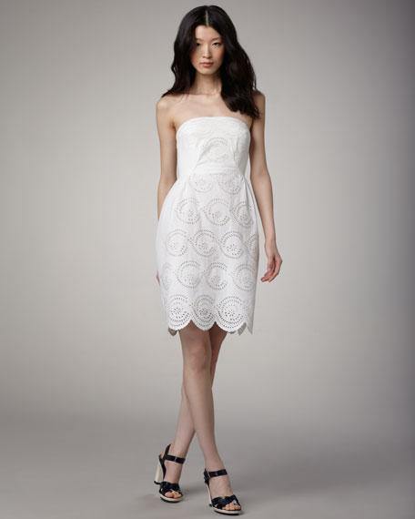 Palmetto Eyelet Dress, Marshmallow