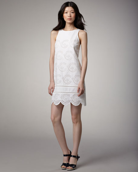 Palmetto Sleeveless Eyelet Dress